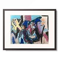 エルンスト・ルートヴィヒ・キルヒナー Ernst Ludwig Kirchner 「Five customers in a cafe」 額装アート作品