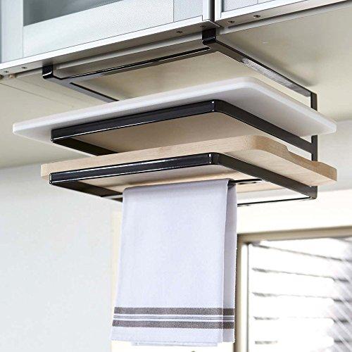 [해외]도마 수납 행주 걸이 주방 선반 심플 멋쟁이/Cutting board storage towel rack kitchen rack Simple fashionable