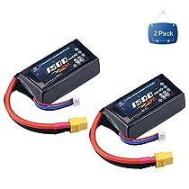 MELASTA 2パック11.1V 1500mAh 40C RC Lipoバッテリーxt60プラグfor RCカー、Skylark m4-fpv250、ミニシュレッダー200、qav250、渦、ドローンとFPV。