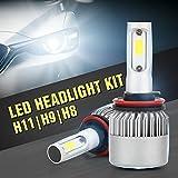 ZNYLSQ LEDヘッドライト 車検対応 S2 LEDハイビーム LEDフォグランプ 汎用 (H8 H9 H11)