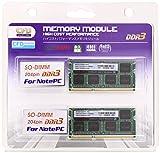 W3N1333PS-8G [SODIMM DDR3 PC3-10600 8GB 2枚組]