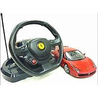 RASTAR◇フェラーリ458イタリア正規認証車RCハンドル型ステアリングコントローラー1/14ラジコンカー