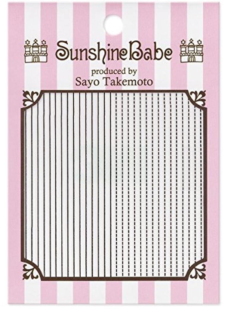 ペルセウス中性ワーカーサンシャインベビー ジェルネイル 武本小夜のネイルシール Sayo Style ラインステッチ ブラック