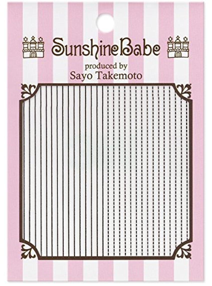 高原気怠い害虫サンシャインベビー ジェルネイル 武本小夜のネイルシール Sayo Style ラインステッチ ブラック
