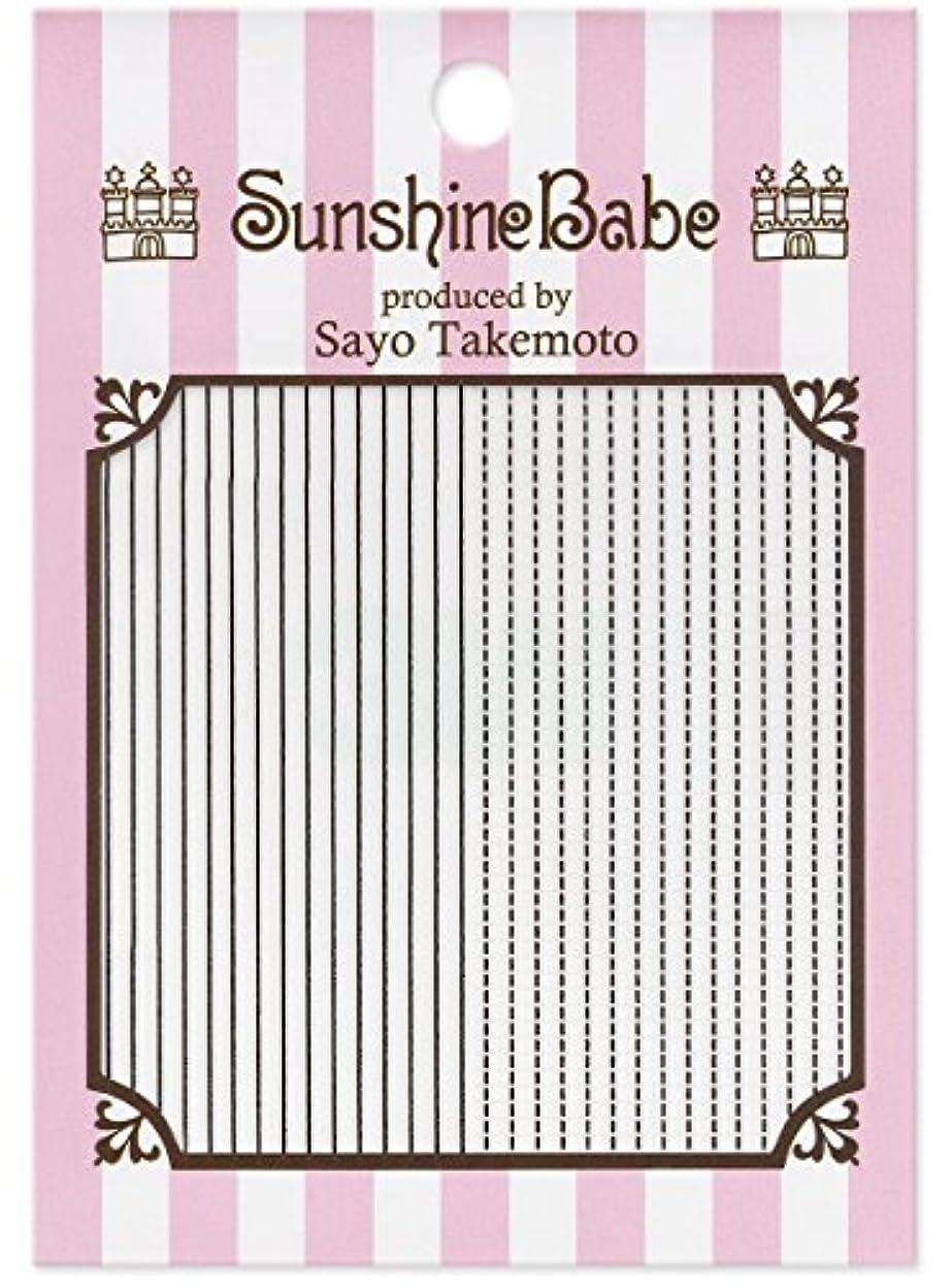 あごひげ軍隊傷つけるサンシャインベビー ジェルネイル 武本小夜のネイルシール Sayo Style ラインステッチ ブラック