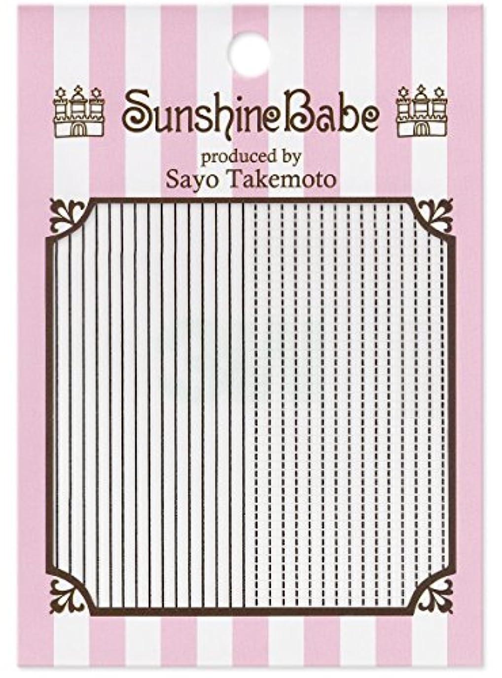 サンシャインベビー ジェルネイル 武本小夜のネイルシール Sayo Style ラインステッチ ブラック