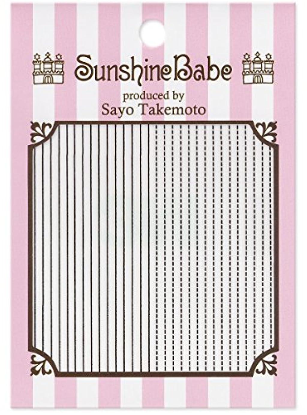 のホスト遵守するインスタントサンシャインベビー ジェルネイル 武本小夜のネイルシール Sayo Style ラインステッチ ブラック