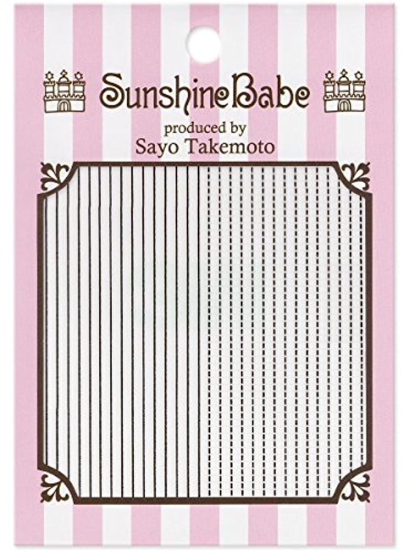 モード写真を撮る簡略化するサンシャインベビー ジェルネイル 武本小夜のネイルシール Sayo Style ラインステッチ ブラック