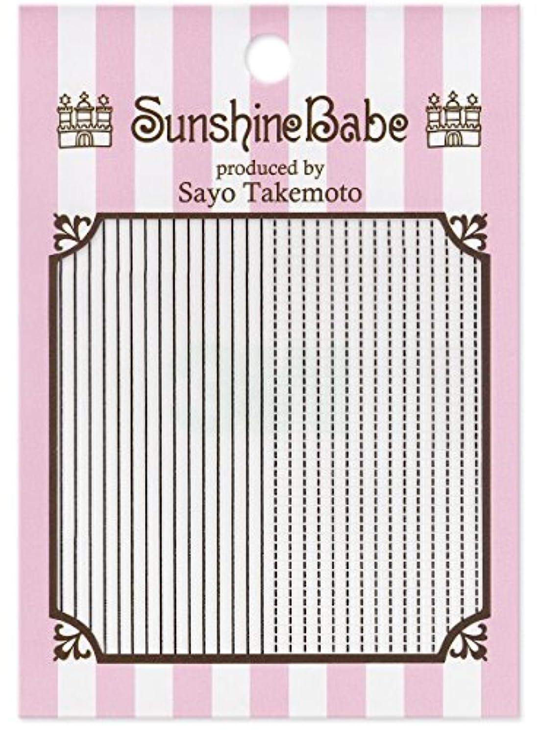 侮辱ペルメルロックサンシャインベビー ジェルネイル 武本小夜のネイルシール Sayo Style ラインステッチ ブラック