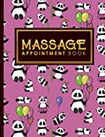 Massage Appointment Book: 4 Columns Appointment Pad, Cute Appointment Books, Undated Appointment Book, Cute Panda Cover