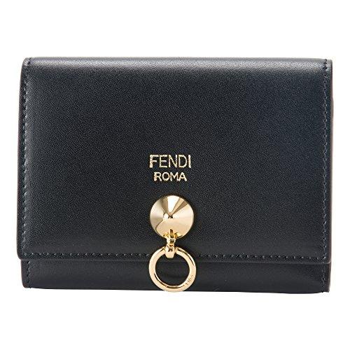 フェンディ(FENDI) カードケース 8M0217 SME F0KUR バイザウェイ ブラック 黒/ゴールド [並行輸入品]