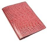 アクュード Cookday 本革 手帳カバー コッコ クロコ型押 B6 ピンク BDB6-02