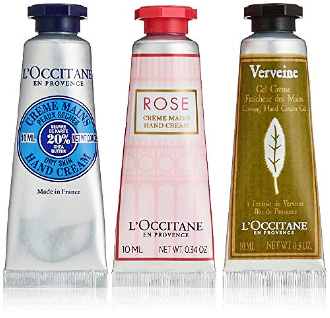 ではごきげんよう燃料コミットメント【Amazon.co.jp 限定】ロクシタン(L'OCCITANE) ミニハンドクリーム トリオ(シアハンドクリーム10ml、ハンドクリームローズ10ml、ヴァーベナアイスハンドクリーム10ml)