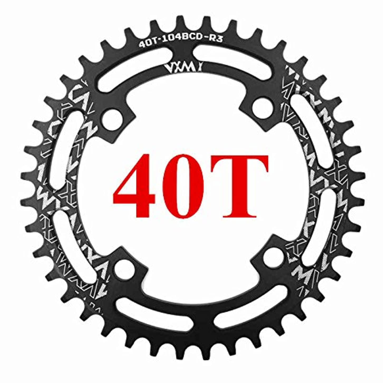 別に大脳不適当Propenary - 自転車104BCDクランクオーバルラウンド30T 32T 34T 36T 38T 40T 42T 44T 46T 48T 50T 52TチェーンホイールXT狭い広い自転車チェーンリング[ラウンド40T...