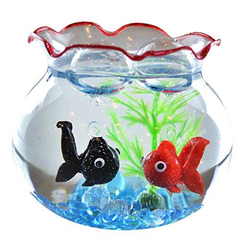 かわいい 手作り ガラス細工 浮玉 金魚と出目金セット CKK152