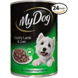 MY DOG Country Lamb and Liver Wet Dog Food 400g Can, 24 Pack