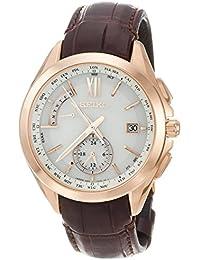 [ブライツ]BRIGHTZ 腕時計 BRIGHTZ ソーラー電波 デュアルタイム チタンモデル ブラウン革バンド SAGA252 メンズ