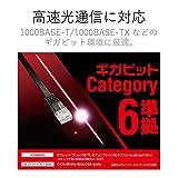 ELECOM LANケーブル CAT6準拠 Gigabit スーパーフラット 1m ブラック 【PlayStation 4 対応】 LD-GF/BK1