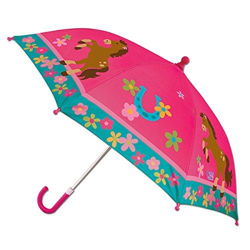 ステファンジョセフ 女の子用 ピンクポニーカラフルアンブレラ,花柄 傘,雨具,梅雨対策グッズ [並行輸入品]