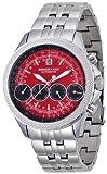 [ブルッキアーナ]BROOKIANA 自動巻き 4連マルチカレンダー レッド×シルバーメタル BA1676-RD メンズ 腕時計