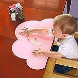HANBUN キッズ ランチョンマット 子供用 シリコン 可愛い 雲 ベビー テーブルマット 食事マット 撥水 丸洗い HK040 (PINK)