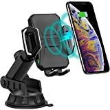 Wireless Car Charger, CHOETECH 【7.5W/10W】Fast QI Car Wireless Charger Mount Phone Holder, Compatible iPhone 11/11 Pro/11 Pro Max/XS Max/XR/XS/X/8/8+, Samsung S10/S10+/S10E/S9/S8/Note 10/9/8, and more