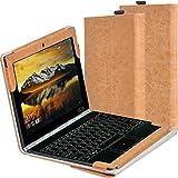 【LIHOULAI】Lenovo YOGA BOOK ZA150019JP 専用保護ケース 高級PUレザーカバー スタン…