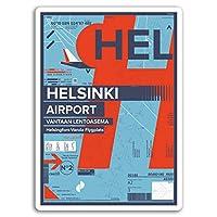 2×10センチメートルHELヘルシンキ空港ビニールステッカー - フィンランド楽しい旅行ステッカー#17392(10センチメートルトール)