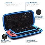 Nintendo Switch ケース Nintendo Switchの保護ポーチ 防塵 耐衝撃 全面保護 ニンテンドースイッチボックス 任天堂スイッチ用キャリングケース ポータブルケース 旅行用収納バッグ 小物収納可 ブラックと青