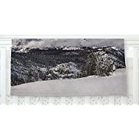 KESS InHouse Juan Paolo Top Of The Summit Blue White Fleece Baby Blanket 40 x 30 [並行輸入品]