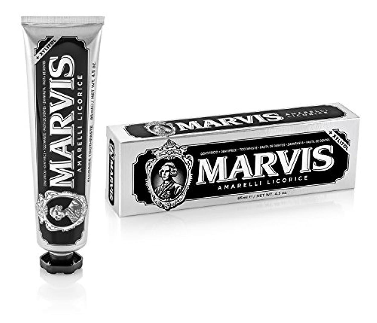 工業用宿命ハードウェアマーヴィス Amarelli Licorice Toothpaste With Xylitol 85ml/4.5oz並行輸入品