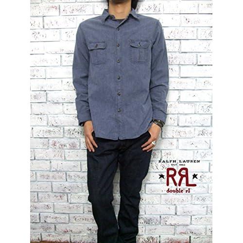 (ラルフローレンダブルアールエル) ralph lauren RRL ワークシャツ/BLUE L [並行輸入品]