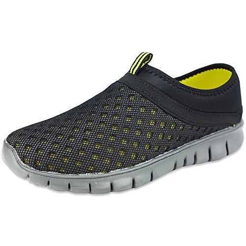 【超軽量】クロッグ サボ メンズ サンダル スリッポン スニーカー 紳士靴 (25.0cm, ブラック)