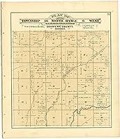 Historic 1888マップ| Plat Book of Chippewa郡、ウィスコンシン| PlatのTownship 36北、範囲6West 38in x 44in 5137074_3844