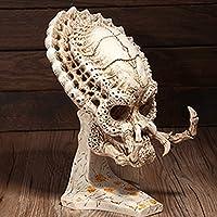 monkeyjackクラシックPredator Skull Propモデル樹脂レプリカUnassembled Figurine Alien Warriorキットホワイト