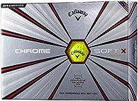 Callaway(キャロウェイ) ゴルフボール CHROME SOFT X 2018年モデル 1ダース( 12個入り) イエロー 6424155120044