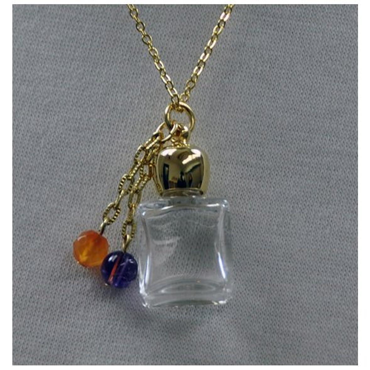ウナギコーラス反応するボトル アロマペンダント ボックス型ゴールド スポイト付