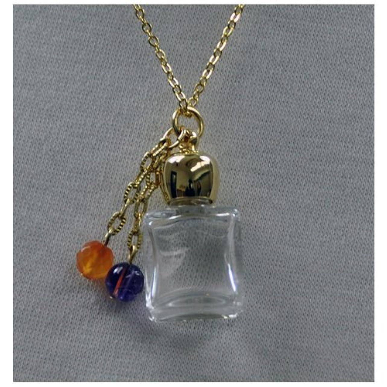 織機ワイン線形ボトル アロマペンダント ボックス型ゴールド スポイト付
