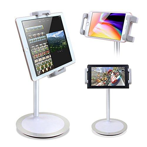 タブレットスタンド KlearLook スマートフォン・IPAD・Nintendo Switchスタンド 卓上 揺れず頑丈な金属製台座 360度回転自由に調整可能 持ち運びやすい 4.7~12.9インチ対応 (タブレットスタンド)