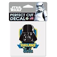 "UCLA Bruins Darth Vader Star WarsロゴPerfect Cut Decal 4"" x 4"" (色付き)"
