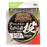 サンライン(SUNLINE) ナイロンライン CASTEST テーパー力糸投 75m #3-12 レッド