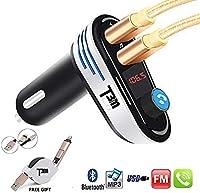 [2018] T3MCO FMトランスミッター、車用Bluetooth FMトランスミッター、2 USBポート充電器サポートUSBフラッシュドライブ、車用MP3プレーヤー、ハンズフリー通話付きカーキット、ワイヤレスBluetooth