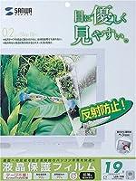 サンワサプライ 液晶保護フィルム LCD-190