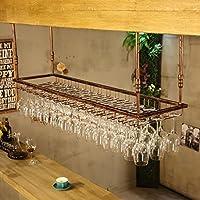 ワイングラスラック、ワイングラスラック、ワイングラスラック、ハンギングレッドワインカップホルダー、吊り下げガラスホルダー、クリエイティブホームバー、ワインラックハンギングガラスホルダー (色 : ブロンズ, サイズ さいず : 120 * 40cm)