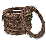 AQUEENLY Grapevine Wreath, 6 PCS Twigs Wreath DIY Vine Wreath Decorations for Front Door Wall Hanging, 7.9 Inches