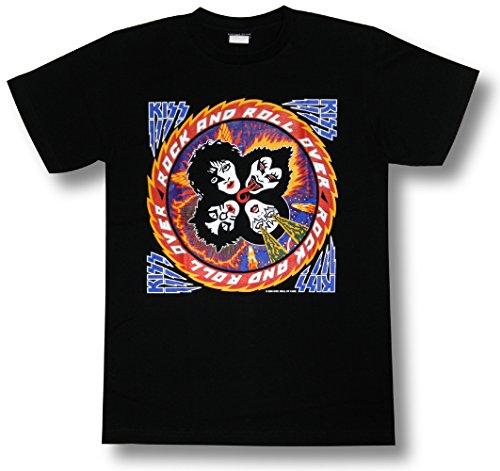 KISS/キッス/ロックンロール・オーバー/Rock&Roll Over/黒/メンズ/レディース/ロックTシャツ/バンドTシャツ (MM)