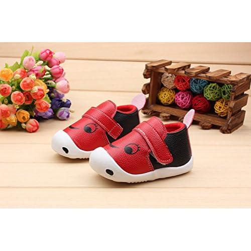 (チェリーレッド) CherryRed ベビーシューズ 赤ちゃん 乳児靴 赤ちゃん 新生児 歩き始め お出かけ 出産祝い 滑り止め 可愛い 0-1-2才 16 1#