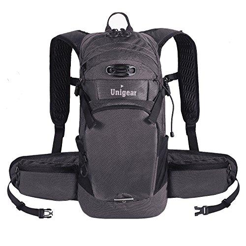 Unigear ランニングリュック 軽量 3色 ハイドレーションバッグ サイクリングリュック 10L ウォーキング ジョギング マラソン レース 登山 遠足 (グレー)