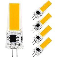 G4口金 LED電球 2W 2800-3200K 電球色 LEDコーンライト シリカゲル COB シリコーン360°照明 調光可能 超高輝度 5個セット Rowrun