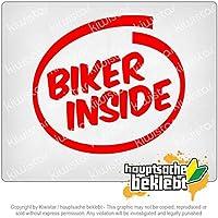 オートバイのバイカー - オートバイ Biker inside - motorcycle 11cm x 10cm 15色 - ネオン+クロム! ステッカービニールオートバイ